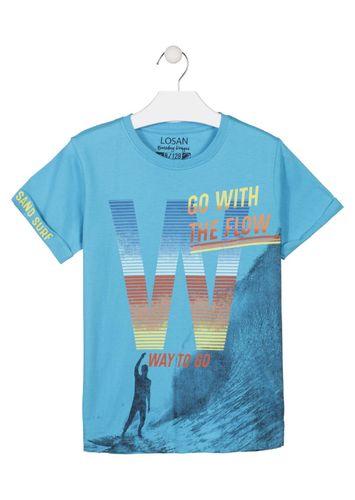 ee86f38629 Camiseta surfera de color azul LOSAN