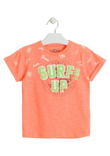 bc63dcb9fe Camiseta de color naranja con vuelta en las mangas LOSAN