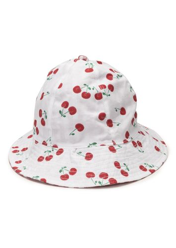 Gorro de color blanco con cerezas estampadas LOSAN