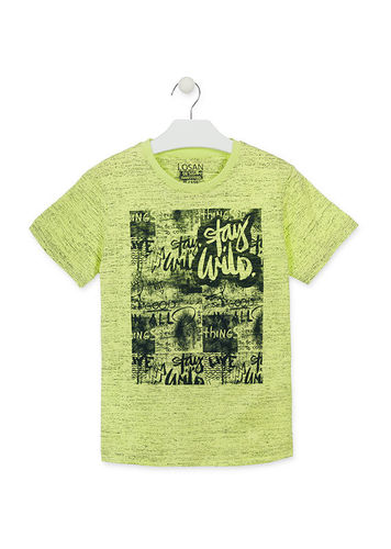 Camiseta de color verde con estampado de puntitos LOSAN