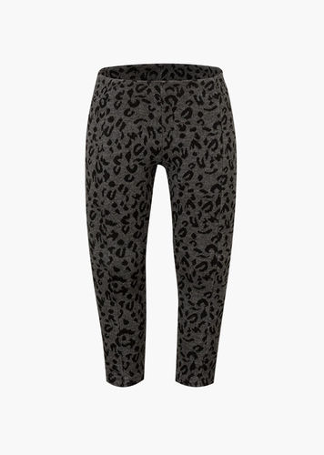 Legging de color gris vigoré con estampado animal LOSAN
