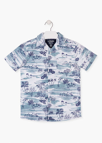 Camisa con estampado tropical LOSAN
